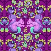 Tula Pink All Stars Squirrel Foxglove Squirrels Floral Botanical Cotton Fabric