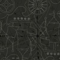 Sun Print 2018 Compass Inky Arrow Linear Geometric Nautical Lines Charcoal Grey Black Blender Cotton Fabric