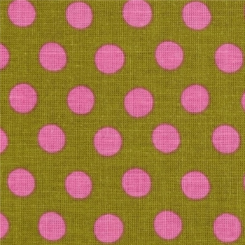 REMNANT Kaffe Fassett Classics Spot Lichen Pink Olive by Free Spirit Cotton Fabric