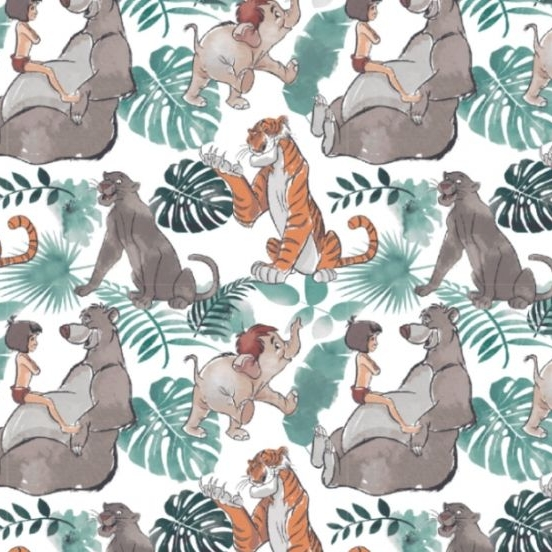 Disney Classics Jungle Book Watercolour Baloo Mowgli Shere Khan Bagheera Co