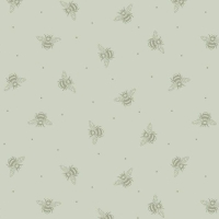 Bee Kind Honey Bees on Sage Green Cotton Fabric