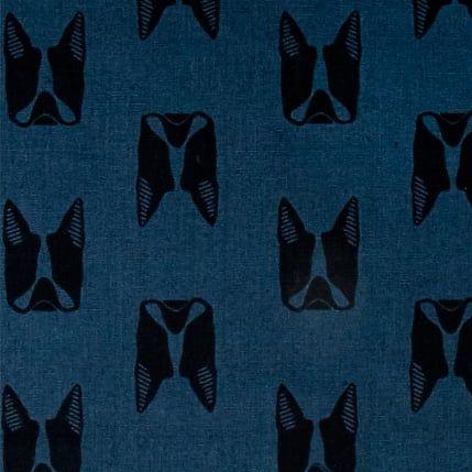 Sarah Golden Maker Maker Captain Dogs Blue Boston Terrier Dog Faces on Tail