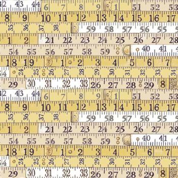 REMNANT Haberdashery Tape Measures Yellow Measuring Measure Ruler Cotton Fabric