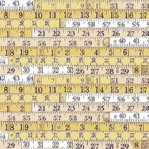 REMNANT Haberdashery Tape Measures Yellow Measuring Measure Ruler Cotton Fa