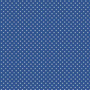REMNANT Spot On Marine Blue White Polkadot on Royal Blue Spotty Dotty Cotton Fabric