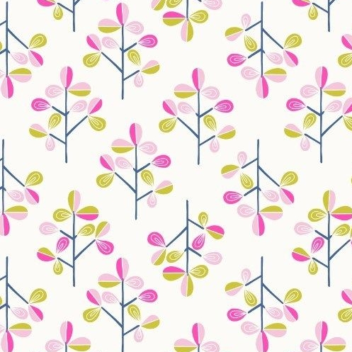 Hann's Tree on Blue Hann's House Trees Botanical Cotton Fabric