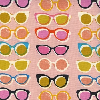 Poolside Shade Pink Sunglasses Shades Glasses Cotton Fabric by Cotton + Steel