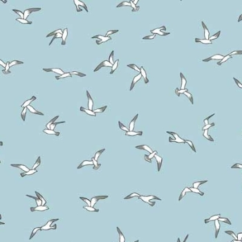 Beachcomber Seagulls Birds Coastal Nautical Beach Seagull Sea Gull Bird Cotton Fabric