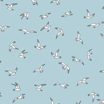 Beachcomber Seagulls Birds Coastal Nautical Beach Seagull Sea Gull Bird Cotton Fabric