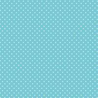 Spot On Sky Blue White Polkadot on Blue Spotty Dotty Cotton Fabric