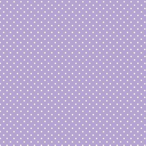 Spot On Lilac White Polkadot on Pale Purple Lavender Cotton Fabric by Makow