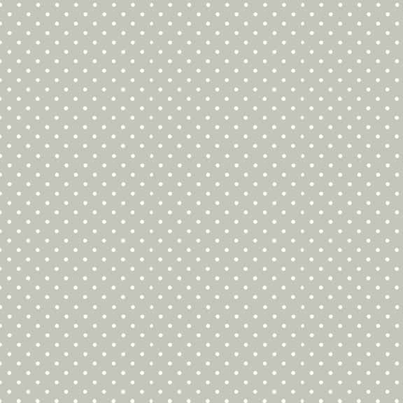 Spot On Silver Grey White Polkadot on Light Grey Cotton Fabric by Makower