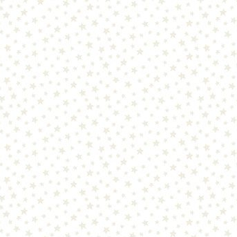 Mini Star White Stars on White Tiny Stars Essentials Blender Nursery Cotton Fabric