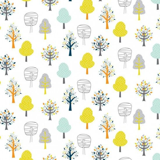 Woodland Friends Trees Forest Tree Botanical Leaf on White Leaves Nursery C
