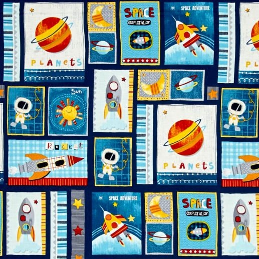 REMNANT Space Adventure Patch Navy Planet Galaxy Rockets Solar System Stars