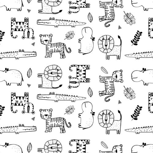 Sloth Sunset Sloths Coral Orange Amne Organic Cotton Jersey Knit Fabric