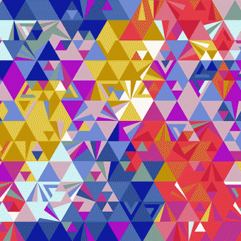 Greatest Hits Remix Geometry Sunset Geometric Triangle Alison Glass Ex Libris Cotton Fabric