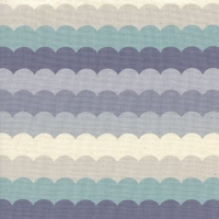 Panorama Cloud Scallops Arctic Grey Blue Scalloped Stripe Waves Ombre Cotton Fabric by Cotton + Steel