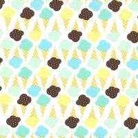 Game of Cones Icing Blue Ice Cream You Scream Cone Icecream Scoop Cotton Fabric