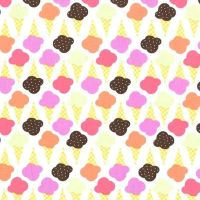 Game of Cones Sherbet Pink Ice Cream You Scream Cone Icecream Scoop Cotton Fabric