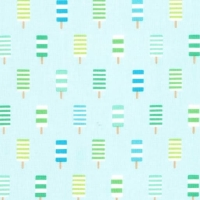 So Cool Ice Lolly Icing Blue Ice Cream You Scream Popsicle Cotton Fabric