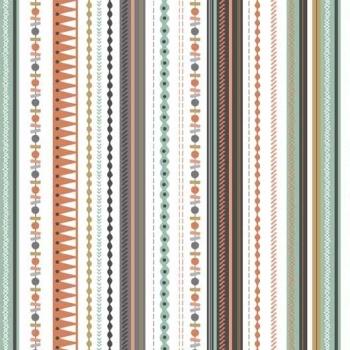 1 Metre Modern Metallic Christmas Modern Metallic Gold Stripe Silver Grey Winter Cotton Fabric