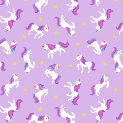 Unicorn Small Things Mystical and Magical Unicorns Lavender Metallic Gold H
