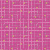 Little Tiles Pink Geometric Lindos Square Grid Blender Metallic Rose Gold Copper Cotton Fabric