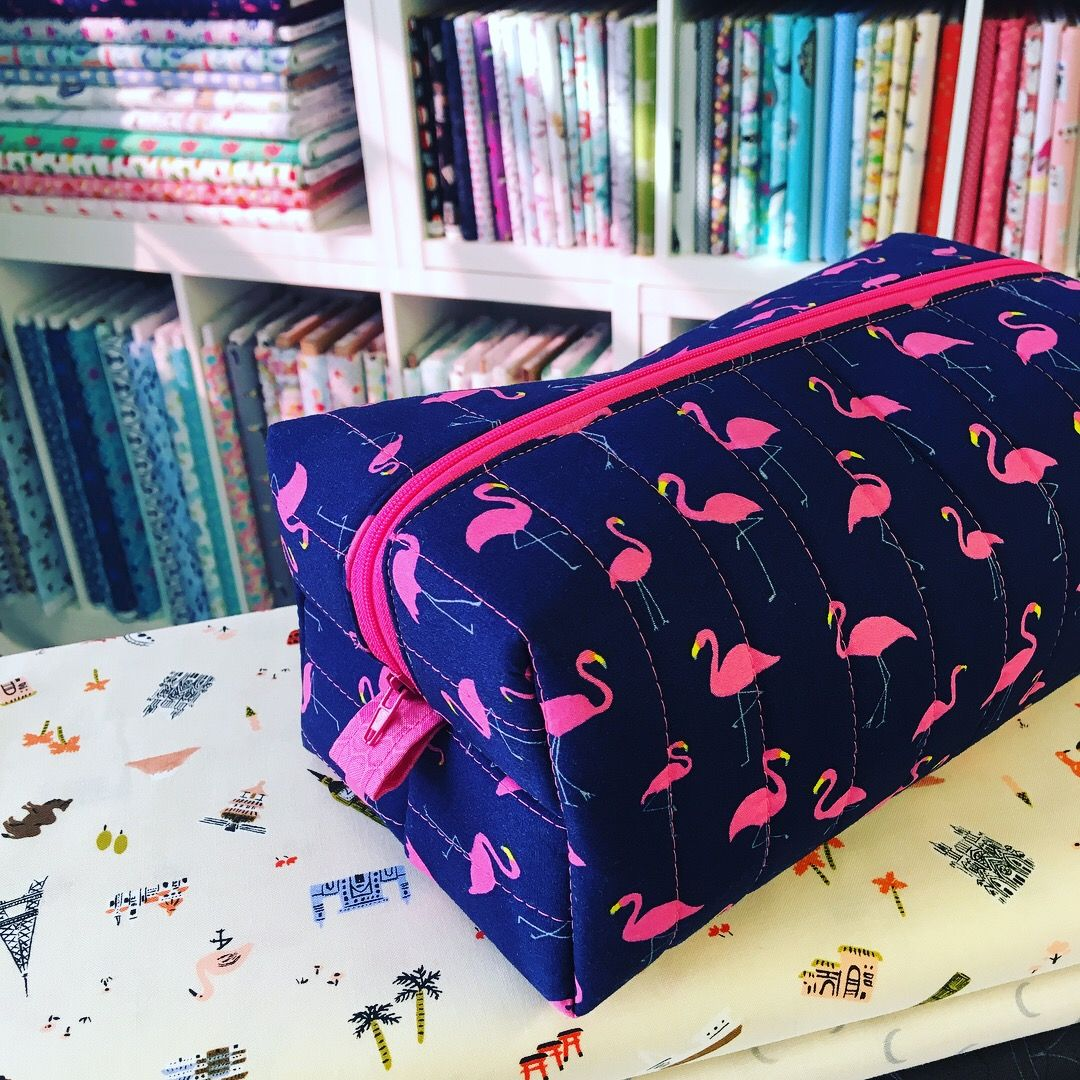 Quilted Boxy Makeup Bag Sewing Class (Supplies Included. Option to bring yo