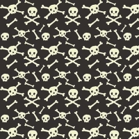 Halloween Skull Glow in the Dark Skulls Bones Gray Spooky Cotton Fabric