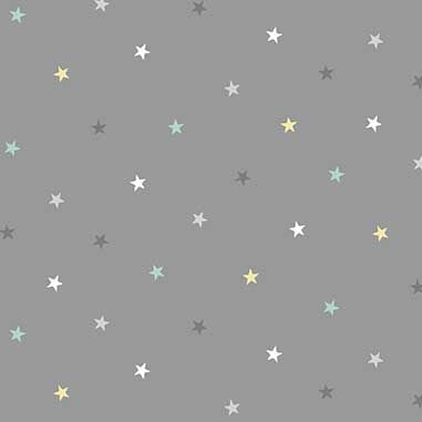 Counting Sheep Stars Grey Star Nursery Cotton Fabric