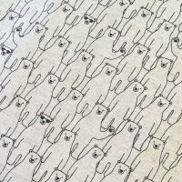 Polar Bear Cool Dudes Yuzawa Polar Bears in Sunglasses Atuko Japan Natural Cotton Linen Fabric