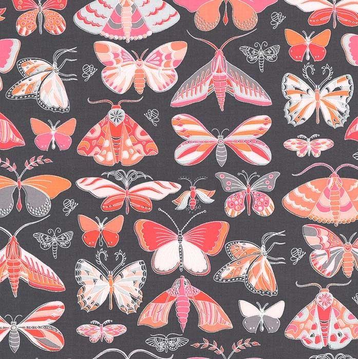 Masquerade Butterflies Moth Tamara Kate Joy Peach Butterfly Moths Coral Gre