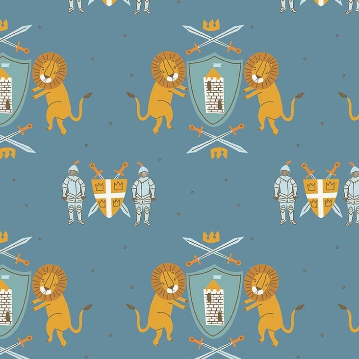 Lancelot Medieval Main Dark Blue Lion Shield Knight Armour Sword King Arthu