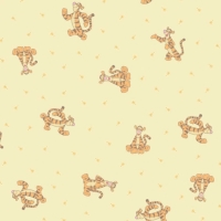 Disney Winnie the Pooh Tigger Nursery Character Yellow Cotton Fabric
