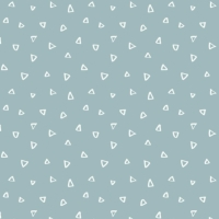 Wild One Tiny Triangles on Dusty Blue Geometric Triangle Blender Coordinate Nursery Cotton Fabric