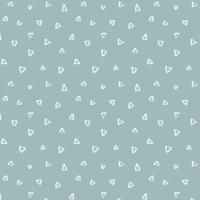 Wild One Tiny Triangles on Dusty Blue Geometric Triangle Blender Coordinate Nursery Cotton Fabric