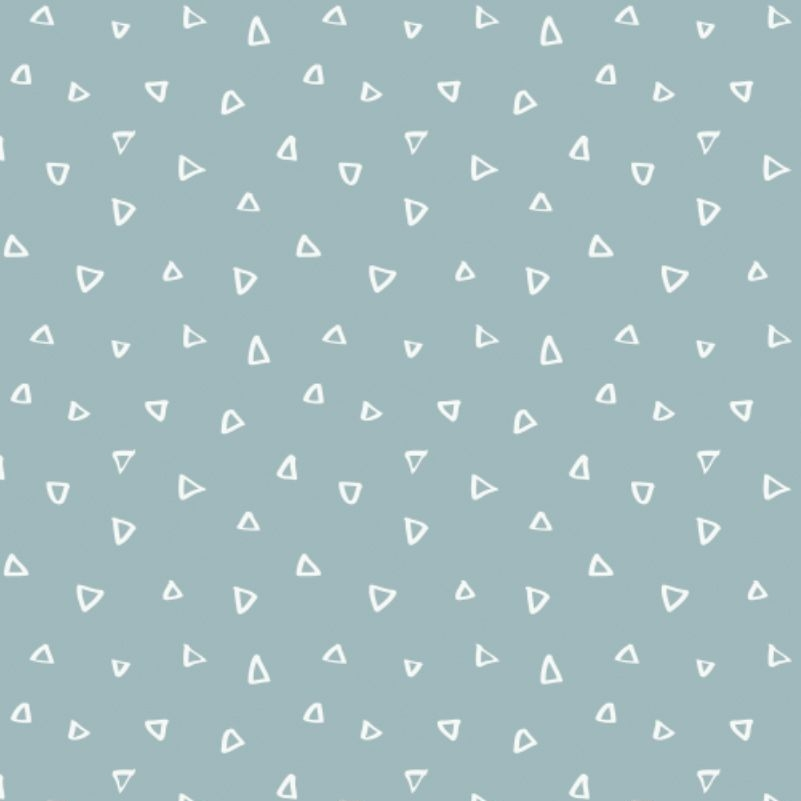 Wild One Tiny Triangles on Dusty Blue Geometric Blender Coordinate Nursery