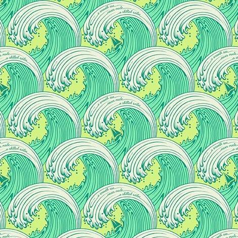 Tula Pink Zuma White Caps Waves Surf Sea Glass Ocean Wave Cotton Fabric