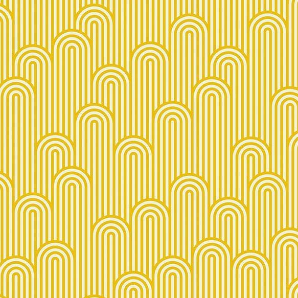 Tula Pink Zuma Tower 7 Geometric Glowfish Stripe Cotton Fabric