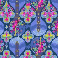Alison Glass Road Trip Treehouse Night Geometric Floral Cotton Fabric