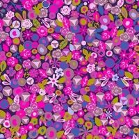 Alison Glass Road Trip Tuesday Woods Pink Purple Ditsy Floral Flowers Cotton Fabric