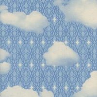 Freshly Picked Sky Blue Skies Cloud Geometric Clouds Cotton Fabric by Cotton + Steel