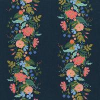 Rifle Paper Co. English Garden Vines Dark Floral Stripe Botanical Stripes Cotton Fabric