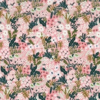 Rifle Paper Co. English Garden Meadow Pink Daisy Ditsy Floral Botanical Flowers Cotton Fabric
