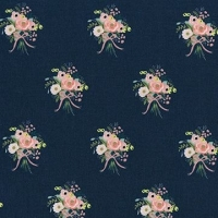 Rifle Paper Co. English Garden Bouquets Navy Floral Botanical Bunch of Flowers Cotton Fabric