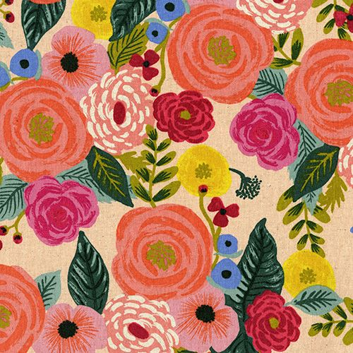 Rifle Paper Co. English Garden Juliet Rose Cream Floral Botanical Cotton Li