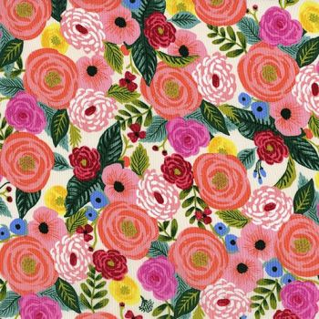 Rifle Paper Co. English Garden Juliet Rose Cream Floral Rayon Challis Fabric