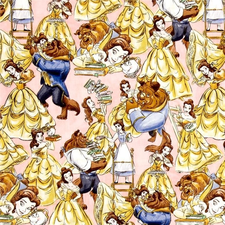REMNANT Disney Princess Beauty and the Beast Belle Sketch Dancing Cotton Fa