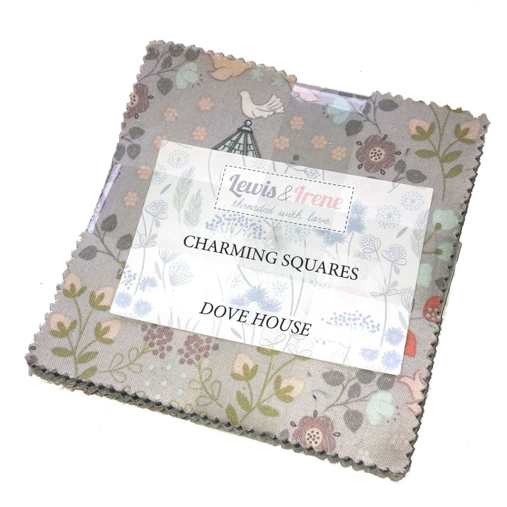 Lewis and Irene Dove House Countryside Cottage Floral Charm Square Quilting